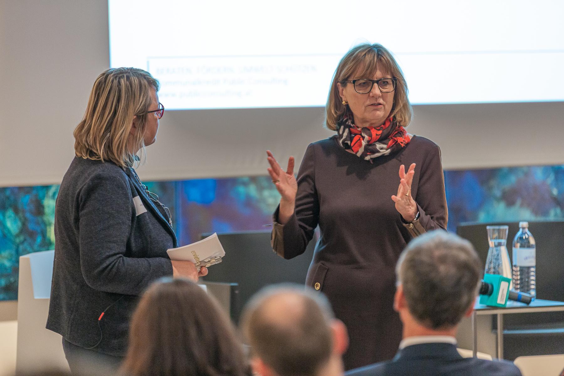 envietech 2019 - FBM Maria Patek im Gespräch mit der Moderatorin Bild: KPC/Somer