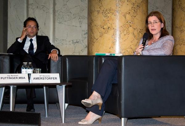 Geschäftsführer der ECO World Styria Umwelttechnik -Netzwerkbetriebs GmbH; DIin Alexandra Amerstorfer: Geschäftsführerin der Kommunal Kredit Public Consulting